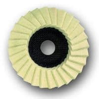 115mm Gloss polishing felt flap disc for angle grinders.