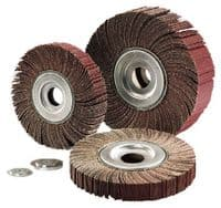 165mm  x 25mm x 43.1mm Abrasive mop wheels. Price per 5