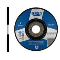 1mm Flat sided. Inox. Steel and stainless steel. Type 41. 100mm. Price per 10 discs.