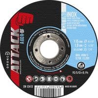 230 x 1.9mm Dronco Attack cutting discs. Flat. Inox. Steel/Stainless steel. Type 41. Price per 25