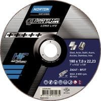230 x 1.9mm. Norton cutting discs. Flat. Steel and stainless steel. Price per 5.