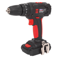 Cordless Hammer Drill/Driver Ø10mm 18V 1.5Ah Lithium-ion 2-Speed - Fast Charger.