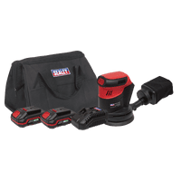 Cordless Orbital Palm Sander Kit Ø125mm 20V - 2 Batteries. CP20VOSKIT