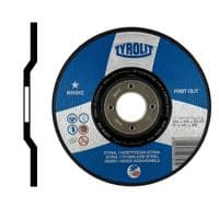 Cutting discs. Depressed centre. Inox. Steel and stainless steel. Type 42. 100mm Price per 10 discs.