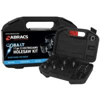 Electricians cobalt hole saw kit.