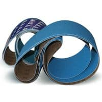 Sanding and surface conditioning belts with a width of 100/110mm