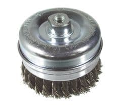 Twist knot wire cup brushes M14 for Angle Grinders