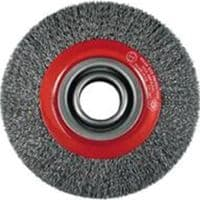 Wheel brushes 150 mm. Stainless steel wire (WF15020CS)