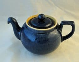 Dby Pottery Cottage Blue Tea Pots (One and Three Quarter Pint)