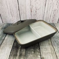 Denby Chevron Rectangular Split Covered Vegetable Dish