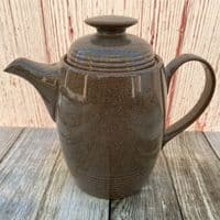 Denby Greystone Coffee Pot (With Rings)
