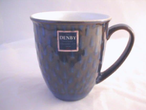 DENBY POTTERY IMPERIAL BLUE DECORATIVE BEAKERS