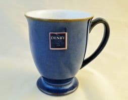 Denby Pottery Imperial Blue Footed Mugs