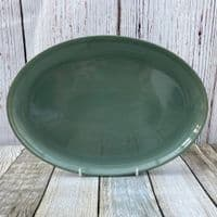Denby Pottery Manor Green Large Oval Plate