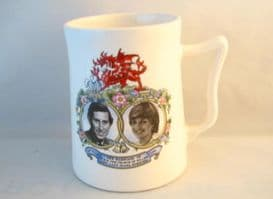 Eastgate Pottery, Charles and Diana Commemorative Wedding Mug