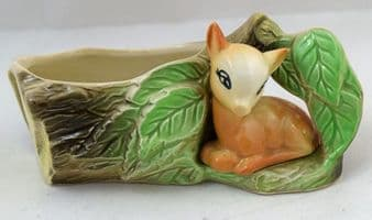 Eastgate Pottery, Fauna, Fawn Sitting Amongst Leaves.