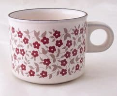 Hornsea Pottery Cranberry Standard Sized Cups