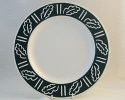 Hornsea Pottery Forest Dinner Plates, Dark Green Background
