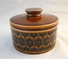 Hornsea Pottery Heirloom Autumn Brown Circular Lidded Butter Dishes