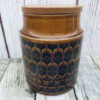 Hornsea Pottery Heirloom Autumn Brown Coffee Storage Jar, Medium