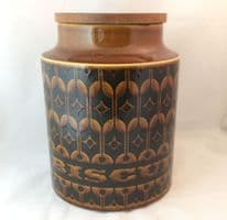 Hornsea Pottery Heirloom Autumn Brown Large Biscuit Storage Jars