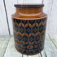 Hornsea Pottery Heirloom Autumn Brown Large Flour Storage Jar