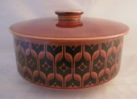 Hornsea Pottery Heirloom Autumn Brown Lidded Serving Dish