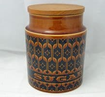 Hornsea Pottery Heirloom Autumn Brown Medium Sugar Storage Jars
