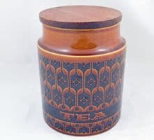 Hornsea Pottery Heirloom Autumn Brown Medium Tea Storage Jars