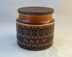 Hornsea Pottery Heirloom Autumn Brown Salt Storage Jars