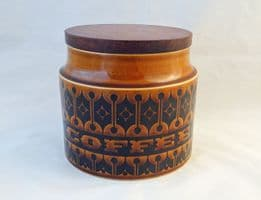 Hornsea Pottery Heirloom Autumn Brown Small Coffee Storage Jars