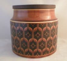 Hornsea Pottery Heirloom Autumn Brown Small  Unlabelled Storage Jars