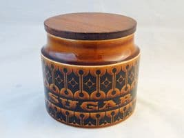Hornsea Pottery Heirloom Autumn Brown Sugar Storage Jars