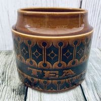 Hornsea Pottery Heirloom Autumn Brown Tea Storage Jar, Small (No Lid)