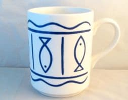 Hornsea Pottery Oceana White Mugs