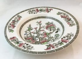 """Johnson Bros Indian Tree 8.5"""" Rimmed Soup Bowls"""