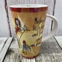 """Johnson Brothers Born to Shop Tall Mug """"Mothers of little boys..."""""""