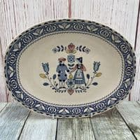 """Johnson Brothers (Bros) Hearts & Flowers 12.25"""" Serving Platter"""