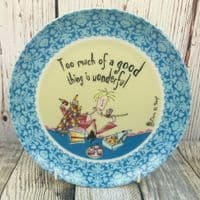 """Johnson Brothers. Born to Shop 8"""" Plate, """"Too much of a good thing"""""""