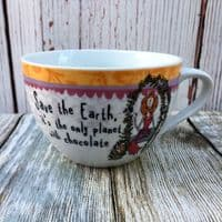 """Johnson Brothers. Born to Shop Breakfast Cup, """"Save the Earth..."""""""