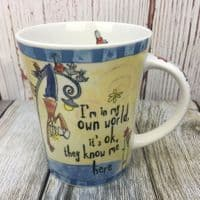 """Johnson Brothers. Born to Shop Mug, """"I'm in my own world..."""""""