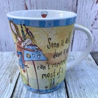 """Johnson Brothers. Born to Shop Mug, """"Seen it all, done it all..."""""""