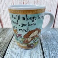 """Johnson Brothers. Born to Shop Small Mug, """"You'll always be my friend..."""""""