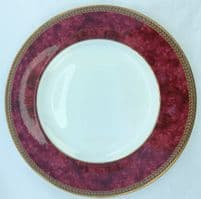 Marks and Spencer Connaught Eight Inch Plates, Wide Red Band on Rim