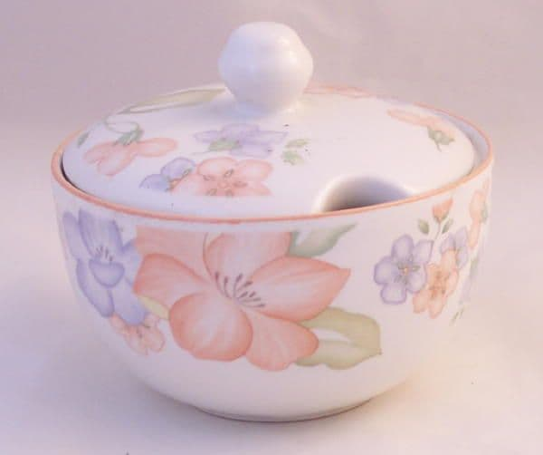 Marks and Spencer Orange Blossom Lidded Sugar/Jam Pots