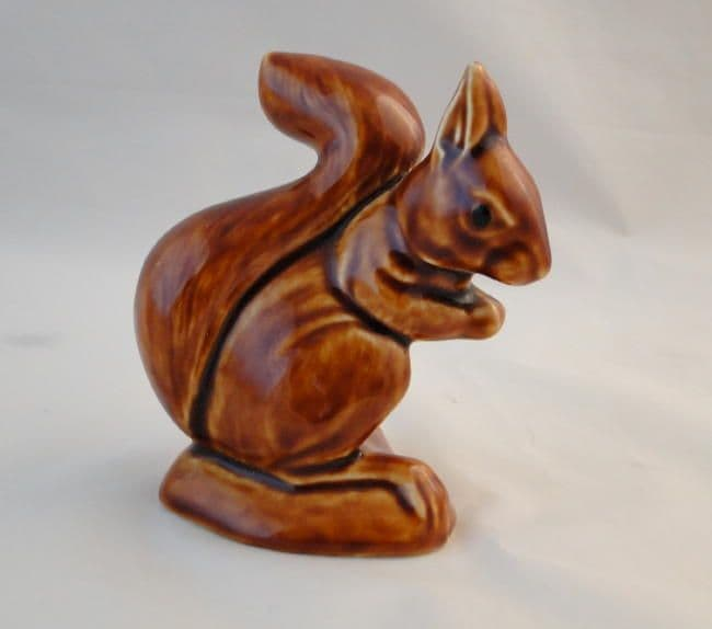 Poole Pottery Brown Glossy Squirrel