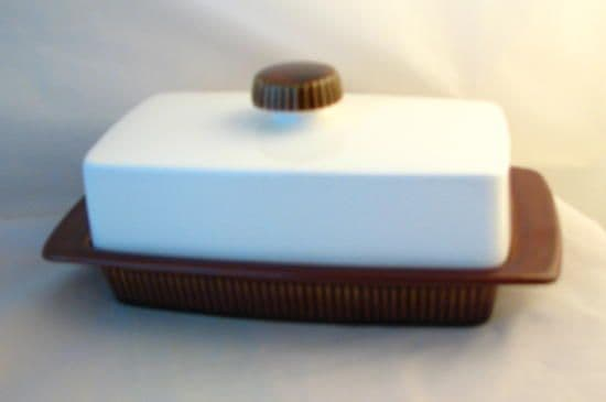 Poole Pottery Chestnut Butter Dishes