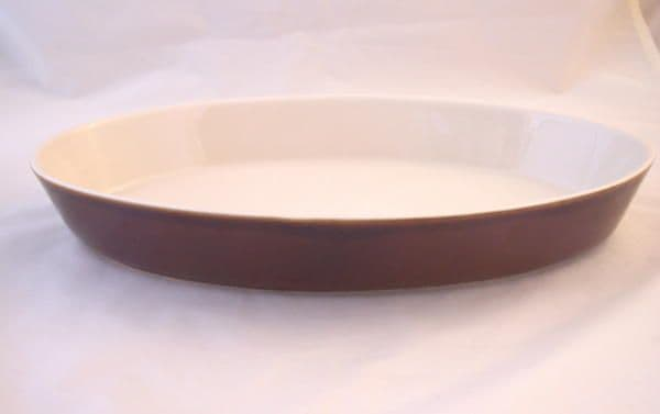 Poole Pottery Chestnut Oval Open Serving Dishes