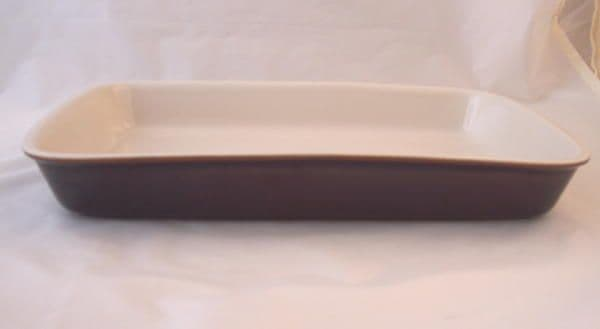 Poole Pottery Chestnut Rectangular Large Lasagne/Serving Dish
