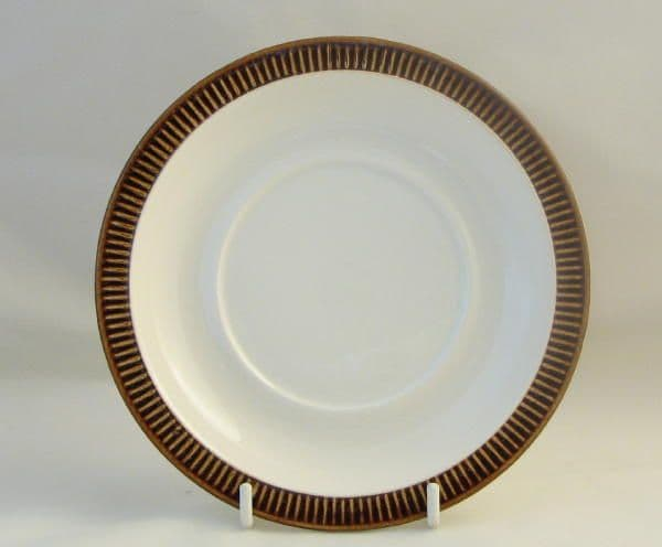 Poole Pottery Chestnut Saucers for Breakfast Cups